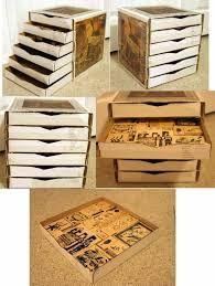 Resultado de imagen para como hacer archiveros de carton