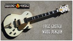"1956 Gretsch White Penguin affectionately known as ""Mister Clean.""  1950's single cutaway Gretsch White Penguin Guitars. This guitar affectionately referred to as ""Mister Clean."" There are around a dozen of these guitars known to exist."