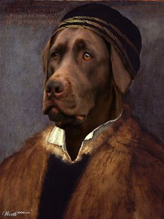 """DogRen"" - beautiful anthropomorphic dog portrait"