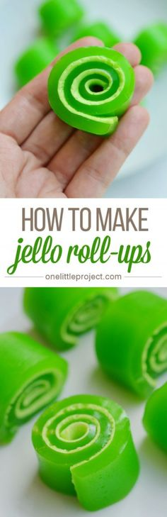 These jello roll-ups were amazingly easy to make!  And the kids loved them! Cooking With Kids, Fun Cooking, Jello Dessert Recipes, Jello Candy Recipe, Easter Recipes Jello, Gummy Bear Recipe With Jello, Recipes With Jello, Candy Recipes, Snack Recipes