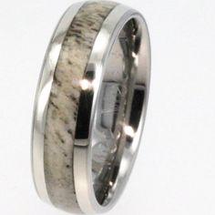 My husbands antler wedding ring