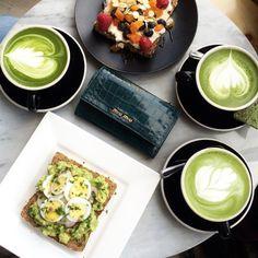 Good morning!  Finally tried matcha lattes at  @chalaitnyc...