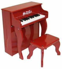 25 Key Elite Spinet in Red by Schoenhut. $167.72. The 25-key Schoenhut Elite Spinet Toy Piano is a musical instrument of the highest quality, certain to enhance your child's love of music with its endearing melodic tones.   Chromatically tuned, the lovely chime-like notes of the Schoenhut Elite Spinet Toy Piano are produced by little hammers striking precision-ground, German steel music rods (versus the conventional taut wires used in full-sized pianos.)   Schoenhut's patented...