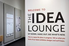 The entrance to the new Idea Lounge in the Penn Museum's third-floor Special Exhibitions Gallery.