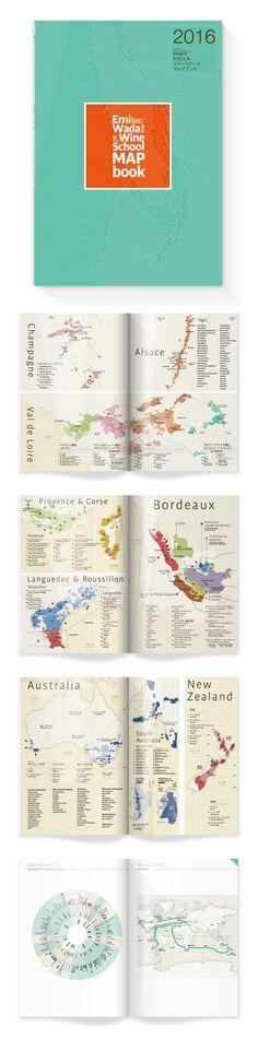 """Map book for Wine certification examination"" Editorial Design / Graphic Design / Map Design / Info Graphics / インフォグラフィック / マップデザイン / ダイヤグラム / エディトリアルデザイン / グラフィックデザイン"