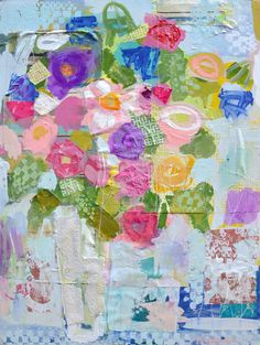 One White Daisy by Mixed Media Artist Christy Kinard