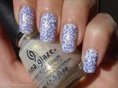 Blue China! From Natalie of A diary of a nail polish addict