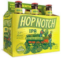 Uinta Brewing Co. Hop Nosh IPA 12oz. 6-pack - designed by Emrich Office