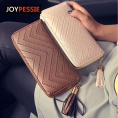 JOYPESSIE 2016 New Fashion leather Women Wallet 3 Fold tassel luxury brand casual PU Wallet Long Ladies Clutch Coin Purse * Nazhmite na izobrazheniye dlya boleye podrobnoy informatsii.
