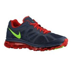 Mens Nike Air Max 2012 Midnight Navy Gym Red White Electric Green Shoes  Free Running Shoes 7bad7dab8