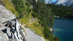 Mountainbike Tour Zugspitze, Blindseetrail in Ehrwald. River, Sports, Outdoor, Zugspitze, Tours, Summer, Hs Sports, Outdoors, Outdoor Games