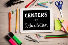 Speechy Musings: All about how I implement centers in speech therapy for articulation groups!