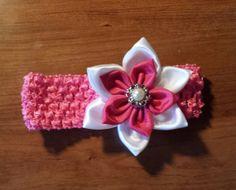 Baby headband stretchy newborn headband with a by BeautyOfCrochet, $8.50
