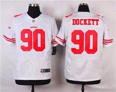 Men's San Francisco 49ers 90 Darnell Dockett Black Alternate Elite Jersey