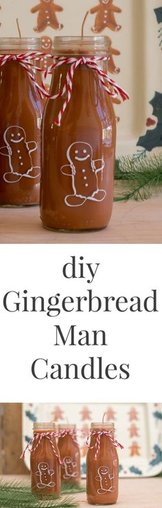 How cute are these candles?! These DIY Gingerbread Man Candles are easy to make and will be a perfect gift for friends and family this Christmas.