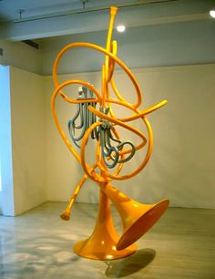 Unwound French Horn Sculpture