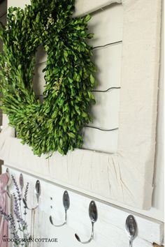 boxwood wreath on pallet - Google Search