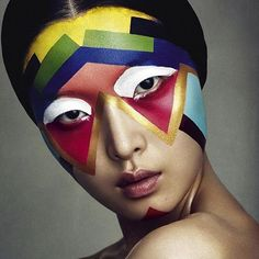 Face Paint - Photographed by Benjamin Vnuk