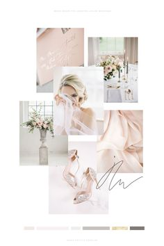 Why creating a mood board is an important part of the branding process Luxury brand design for feminine businesses and wedding professionals. Wedding Branding, Business Branding, Banners, Branding Process, Wedding Mood Board, Web Design Inspiration, Brand Design, Wedding Planner, Pink Grey