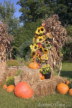 This would make a great front porch display for fall.