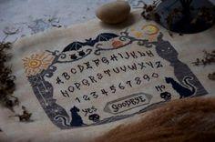 Witch Board from Cottage Garden Stitchery