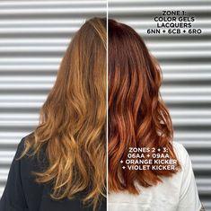 Redken Color Gels, Redken Hair Color, Redken Color Formulas, Redken Shades, Red Hair Formulas, Redken Hair Products, Liquid Hair, Ginger Hair Color, Natural Red Hair