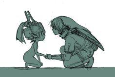 Midna and Link - The Legend of Zelda: Twilight Princess