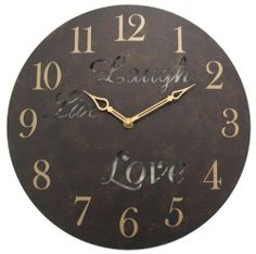 Geneva 12-Inch Live Laugh Love Metal Wall Clock by Geneva, $19.99http://www.amazon.com/dp/B004PGM4C2/ref=cm_sw_r_pi_dp_Vkgtsb02KCZ3B