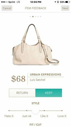 Urban expressions Luis Satchel stitch fix