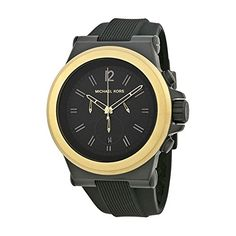 Michael Kors Dylan Mens MK8383 Black Silicone Strap Chronograph Watch * Be sure to check out this awesome product.