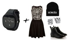 monochromatic all-black outfit, homies beanie, diamond studs  the daily dani: Flex Watches Giveaway!