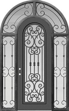 GlassCraft Door Company Buffalo Forge Steel Marbella Round Top Surround