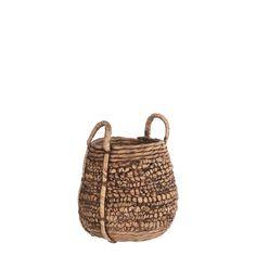 Casa Vivante Lara Mand Rattan, Wicker, Water Hyacinth, Bohemian Interior, Plant Holders, Storage Solutions, Dark Brown, Straw Bag, Collection