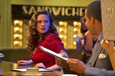"""Will we ever see more Agent Carter? Hayley Atwell hopes so. The actress says she would """"absolutely"""" play the Marvel hero again if the opportunity arose. 4 at the TCA's 2016 and gave us hope for more Agent Carter"""