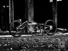 Homemade motorcycle Kustom Boardtracker BoBBer.