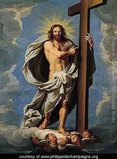 Christ in Glory, Phillipe de Champaigne Christian Artwork, Jesus Art, Pictures To Draw, Jesus Christ Images, Crucifixion, Catholic Art