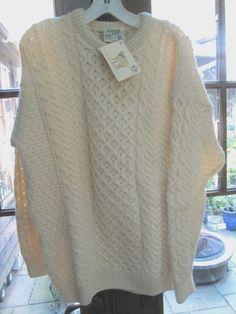 Authentic Irish knit wool sweater. Carraig Donn. #CarraigDonn #Crewneckpullover