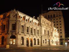 TURISMO EN CHIHUAHUA. El Palacio Municipal de Chihuahua, se construyó en 1733 específicamente para alojar las oficinas del Ayuntamiento de la ciudad y se inauguró en 1907, después se le agregaron los edificios que eran de la federación. Conozca este hermoso edificio en su próxima visita al estado de Chihuahua. #turismoenchihuahua
