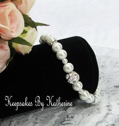 Pearl and Rhinestone Bracelet, Keepsakes By Katherine