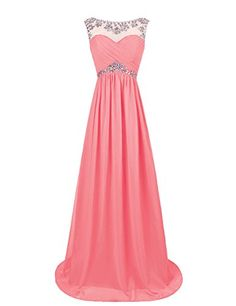 Dresstells® Long Chiffon Prom Dress with Beadings Wedding Dress Maxi Dress Evening Party Wear Dresstells http://www.amazon.co.uk/dp/B00OHGGCY6/ref=cm_sw_r_pi_dp_ftUwvb1QZ39RC