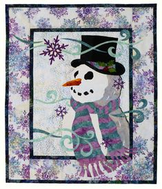 Wanna Build a Snowman wallhanging by Dana Michelle of Wildfire Designs Alaska. Available as a pattern, traditional kit or laser pre-cut kit.