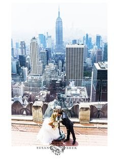 Top Of The Rock Wedding In New York City -  By Susan Shek Photography