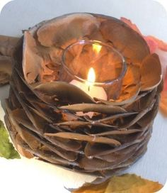 pine scales votive by suse