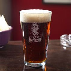 Many consider Ronald Reagan the finest American president of the modern era. If you agree, let's raise a toast with our Reagan Right personalized beer pint glass. Each of these custom pint glasses ...