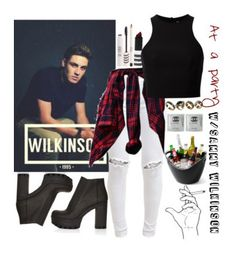 """Sammy Wilkinson"" by queenloxisminebitch ❤ liked on Polyvore featuring Topshop, FiveUnits, T By Alexander Wang, ALDO, love, hot, magcon, magcult and SammyWilkinson"