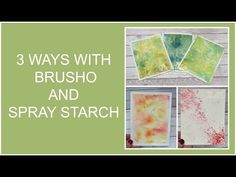 Quick Crafting Tip - 3 Ways with Brusho and Spray Starch - Lisa's Stamp Studio Brusho Techniques, Colouring Techniques, Watercolor Techniques, Card Making Supplies, Card Making Tutorials, Card Making Techniques, Art Supplies, Spray Starch, Homemade Greeting Cards