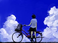 Makoto Konno - The Girl Who Leapt Through Time / Toki wo Kakeru Shoujo,Anime Anime School Girl, Anime Art Girl, Manga Girl, Anime Manga, Mamoru Hosoda, Art Magique, Makoto, Wolf Children, Pokemon