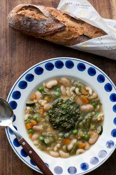 Soupe au pistou, fresh vegetable soup from France. A comforting Provencal recipe featuring the sun-drenched flavors of Provence.