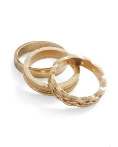 gold trio ring set