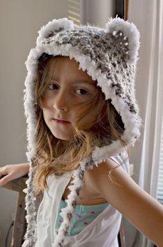 CROCHET PATTERN-Bella Bear Cap, Crochet Pattern de hotte, bambin, enfant, adulte crochet bear hotte, modèle de chapeau au crochet